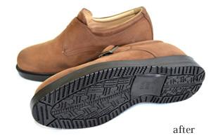 靴底貼り替え後