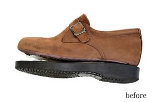 靴底貼り替え前